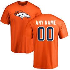 Orange Colors Names Men U0027s Nfl Pro Line Orange Denver Broncos Any Name U0026 Number Logo
