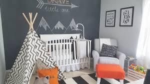 fawn over baby modern black u0026 white woodland themed nursery