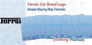 ferrari logo drawing how to draw ferrari company logo famous brands easy step by step