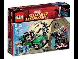 lego ultimate spiderman spidercycle chase