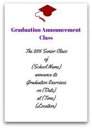 graduation announcement sayings graduation announcement wording