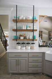Shelves Kitchen Cabinets Kitchen Room Abdcdfdcd Grey Cabinets Wood Shelves Corirae