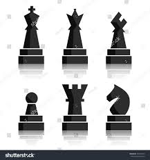 black chess icons set chess board stock illustration 396478912