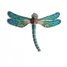 art deco dog ring holder images Sterling silver jewelled art nouveau dragonfly brooch jpg