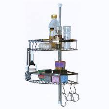 crochet cuisine inox étagère de cuisine télescopique inox 2 paniers 6 crochets maison futée