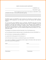 Non Disclosure Statement Template by 10 Nda Form Template Cinema Resume