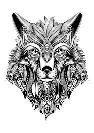 ideas printable wolf mandala coloring pages sheets