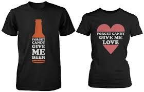 halloween shirts com funny halloween couple shirts forget candy give me beer and