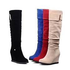 womens knee high boots nz s shoes nz fashion boots wedge heel knee high boots with