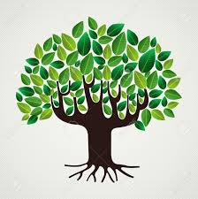 green leaf strong trunk tree design file layered for easy