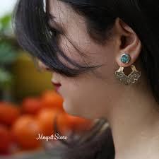 unique earrings golden unique earring javani