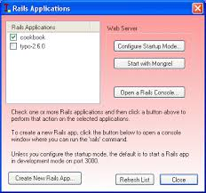 implementation of support for ruby on rails into windows os