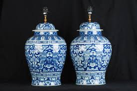 Ginger Jar Table Lamps by Blue And White Ginger Jar Table Lamps Militariart Com