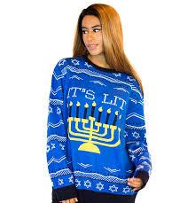 hannukah sweater hanukkah sweater it s lit women s sweater