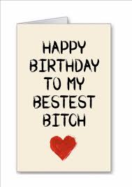 Happy Birthday Bitch Meme - novelty happy birthday bestest bitch greeting card best friend