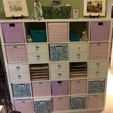 craft room ikea kallax 5x5 shelves with kallax drawers u0026 bins