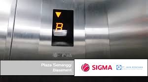 sigma elevator at plaza semanggi basement youtube