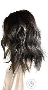 silver brown hair silver and dark brunette hair color hair inspiration pinterest
