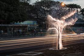 light appears to drip from trees in these exposure photos by