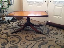 coffee table leather top antique imperial leather top coffee table onceremoved info
