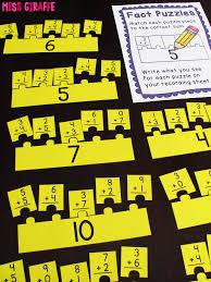 miss giraffe u0027s class fact fluency in first grade