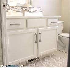 Repainting The Vanity It U0027s A Grandville Life Diy Painted Bathroom Cabinets