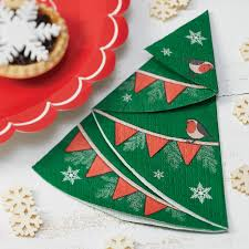 tree shaped paper napkins by