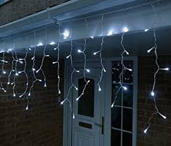 10 metre white connectable led icicle lights 320 leds with 8