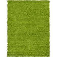 Grass Area Rug Unique Loom Solid Shag Grass Green 7 Ft X 10 Ft Area Rug 3127900