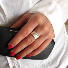 rings silver bands images Wide silver band ring fresh personalized ring for women men custom jpg