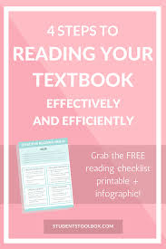 4 steps to reading your textbook efficiently students toolbox