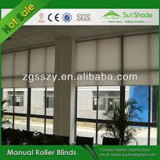 Window Blind Parts Suppliers Manual Chain Polyester Fabric Roller Shades Window Shades Blinds