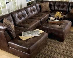 austin top grain leather sectional with ottoman leather sectional with ottoman elegant furniture classic brown