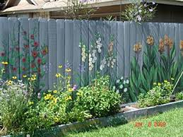 i want to paint the fence i can t seem to keep flowers alive so