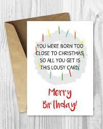 items similar to merry birthday card printable