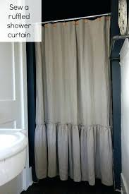 White Ruffled Curtains by Ruffle Shower Curtain Canada Savae Org