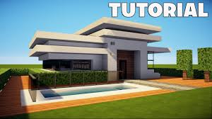 minecraft small u0026 easy modern house mansion tutorial how to