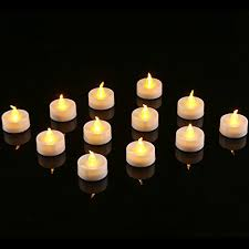 fake tea light candles homemory led flameless fake tea light candle amber yellow