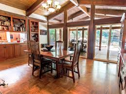 Craftsman Style Dining Room Table Secluded Custom Craftsman Style Home In Newhall