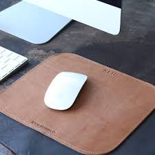 Personalized Desk Accessories The Architect Personalized Leather Mousepad Mouse Pad