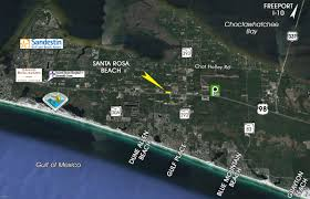 Blue Mountain Beach Florida Map by Santa Rosa Beach Fl