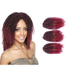 ombre crochet hairstyles 3pcs set 8inch ombre synthetic braiding hair crochet braids