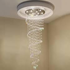 Spiral Pendant Ceiling Light Modern K9 Large Led Spiral Living Room Chandeliers Ceiling