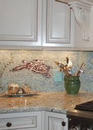 Coastal Kitchens - artsy under water kitchen island http www completely coastal