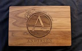 engraved cutting boards engraved cutting board monogram say anything design