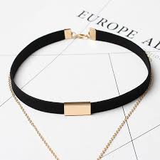 necklace chokers images Gold chain bar choker necklace viva la vibes jpg