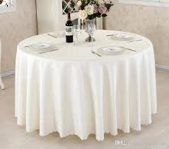 round table cloth covers polyester table cloth round satin printed cover for banquet wedding