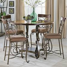 pub height table and chairs standard furniture bombay round counter height table and chair set