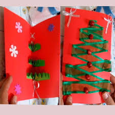 how to make an easy christmas tree pop up greeting card diy