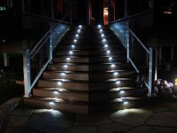 yinghao 3 led outdoor solar powered step stairs light 2 pack